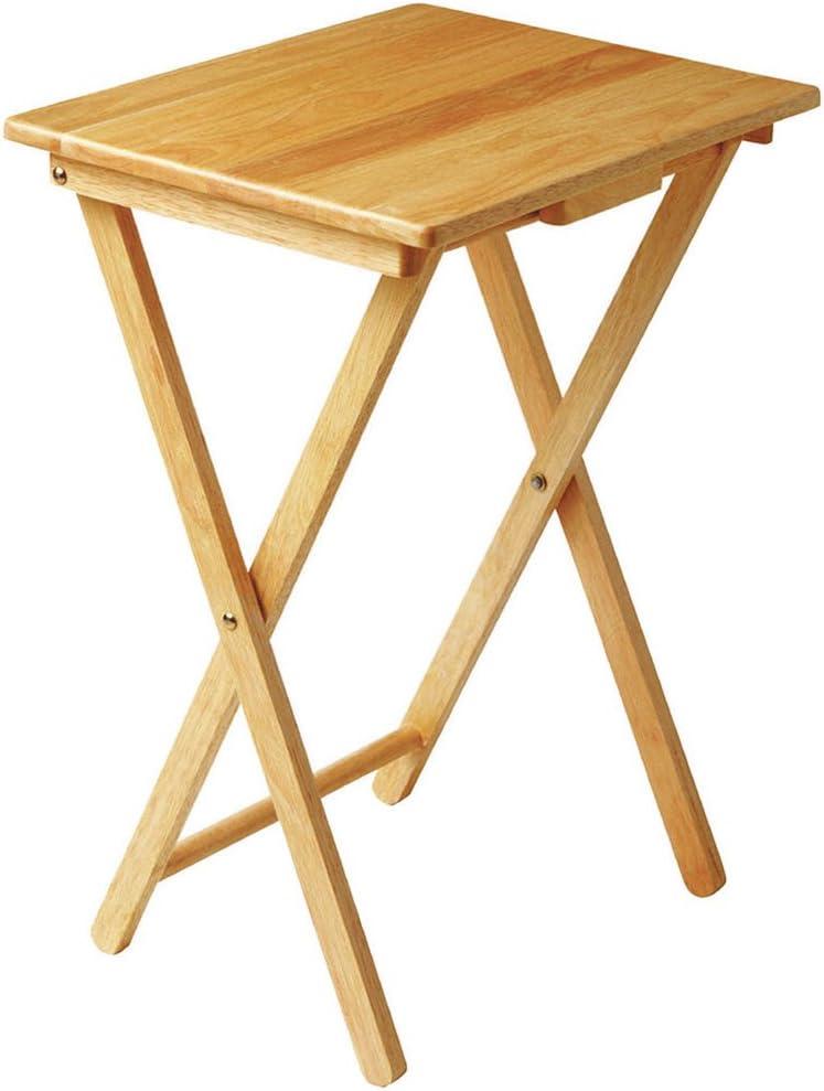 Anika 62090 Folding TV Table 38.5 x 48.5 x 65cm Natural Wood Home ...