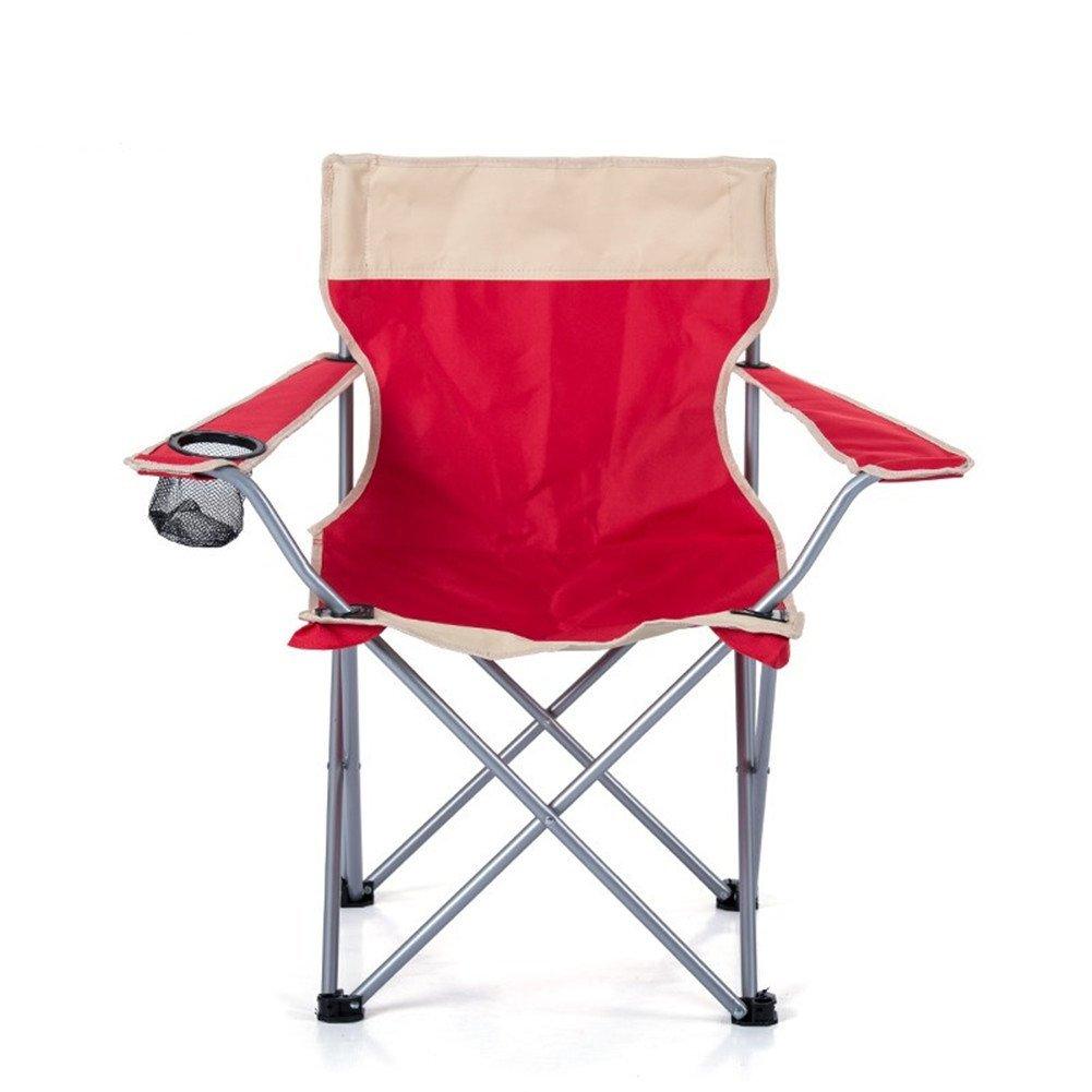 Rouge  LELI portable Plein Air Pliant Chaises Repose-Pieds Dossier Réglable Compact Camping Randonnée Plage Pêche Jardin-Rouge