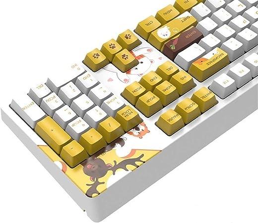 Man-hj Teclas del Teclado Ergonómico Teclado USB con Cable ...