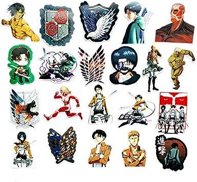 21 Pcs Japón Ataque En Titán Anime Icono Animal Pegatina Regalos para Niños A Ordenador Portátil Suitcas Bicicleta Coche DIY PVC St Ickers: Amazon.es: Electrónica