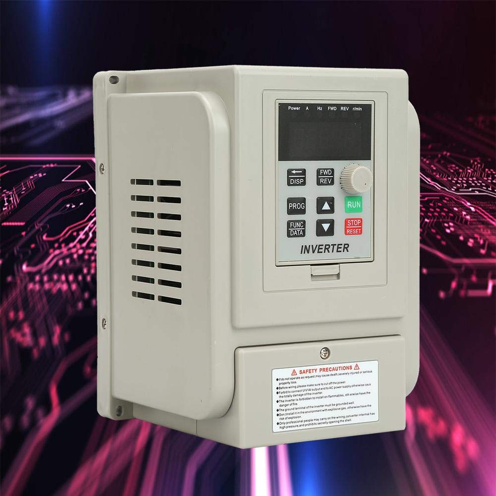 Adjustable-Frequency Drive 220VAC Durable Variable Frequency Drive VFD Speed Controller Inverter Motor Drive for Single-Phase 0.75kW AC Motor