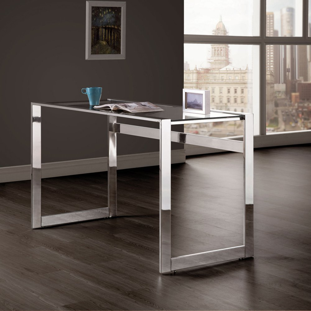 Amazon com coaster 800746 co furniture computer desk with glass top kitchen dining