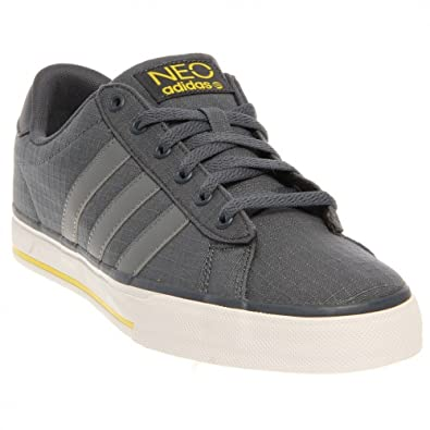adidas NEO SE Daily Vulc Shoes - Dark Onyx/Vivid Yellow (Mens) -