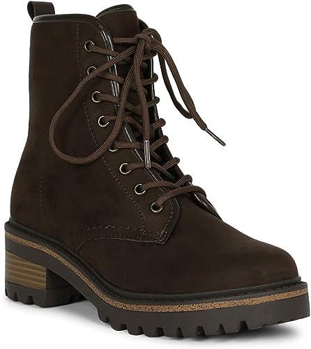 faux suede platform combat boots