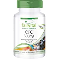 OPC 300mg - 1 mois - végan - dosage élevé - 90 capsules - oligo-proanthocyanidines