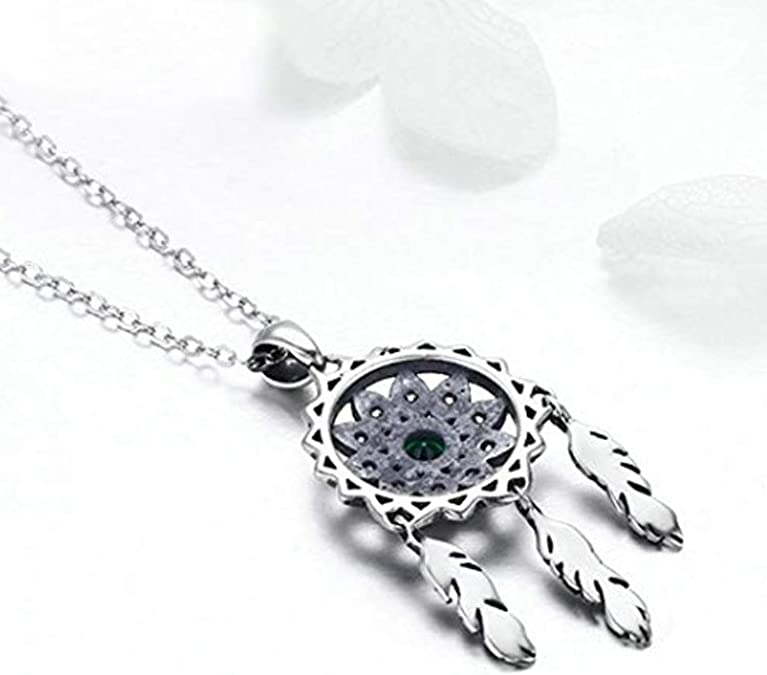 Collar de plata de ley 925 con colgante de atrapasue/ños de cristal Iszie Jewelry