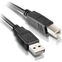 Cabo USB para Impressora 2.0 AM+AF com Filtro contra interferências Exbom CBX-U2AMBM50 5 metros