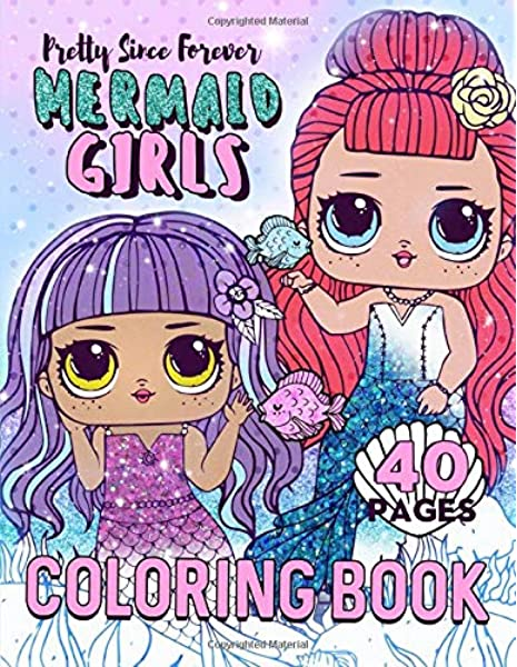 - Mermaid Girls Coloring Book: 40 Adorable Coloring Pages! (Pretty Since  Forever Books): Anime, Happi: 9781090821348: Amazon.com: Books