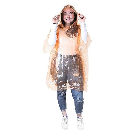 eBuyGB Herren 1216529 Notfall Wasserdicht Regen Poncho,, Einheitsgröße,  orange: Amazon.de: Sport & Freizeit