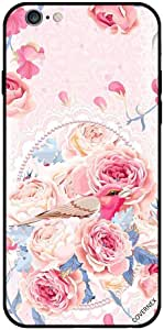 Case For iPhone 6 - Cute Pink Bird in Buket of Flowers