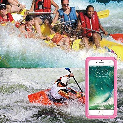 iPhone 7 Waterproof Wasserdichte Hülle, Moonmini® Schwarz Outdoor Case Full Body Sealed Waterproof Case staub wasser und schneedicht Schutz Hülle für iPhone 7 Waterproof