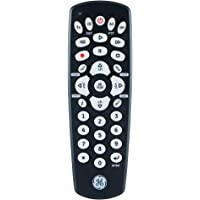GE Universal Remote Control for Samsung, Vizio, LG, Sony, Sharp, Roku, Apple TV, RCA, Panasonic, Smart TVs, Streaming Players, Blu-ray, DVD, 4-Device, Black, 34708