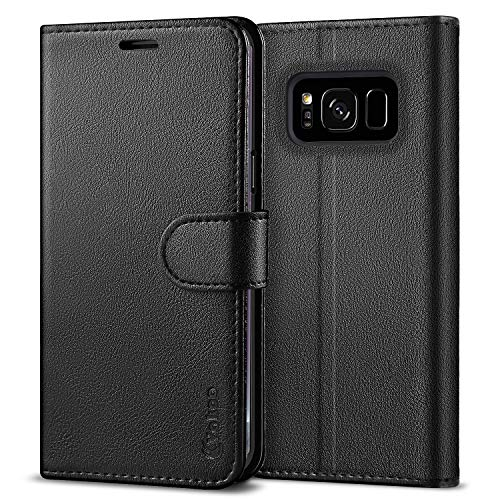 VAKOO Wallet Phone Case for Samsung Galaxy S8 Plus, Premium Flip Case and PU Leather Cover for Samsung Galaxy S8+ and Samsung Galaxy S8 Plus (6.2 inches) Black