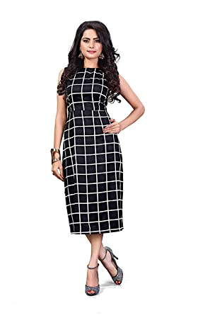89d751d1cefa ORLIN Western wear one Piece Black Dress for Women and Girls  Amazon.in   Clothing   Accessories