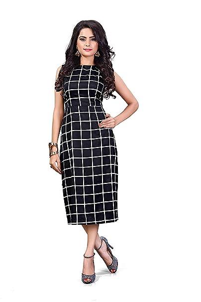 4f039a3449555 ORLIN Western wear one Piece Black Dress for Women and Girls  Amazon ...
