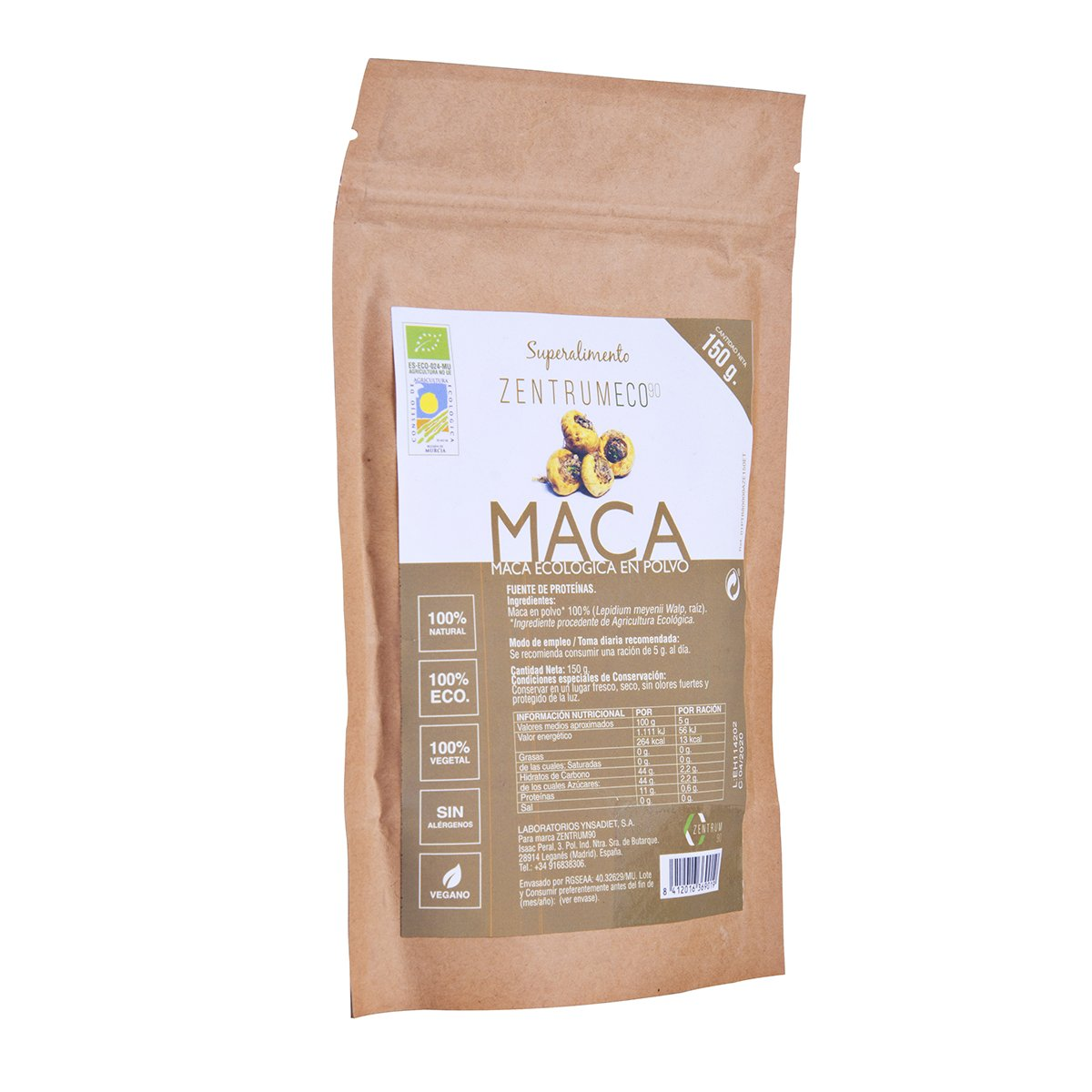 Maca en polvo ecológica para mejorar la memoria, la libido y el deseo sexual – Superalimento vegano libre de alérgenos – Superfood 100% ecológica para ...