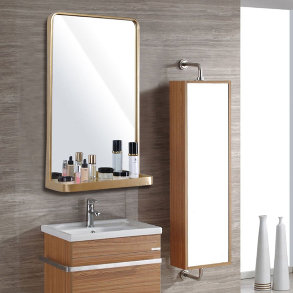 Bloomy Home Specchiera per bagno in ferro battuto in stile nordico Specchio per bagno in specchio semplice Specchi ingranditori