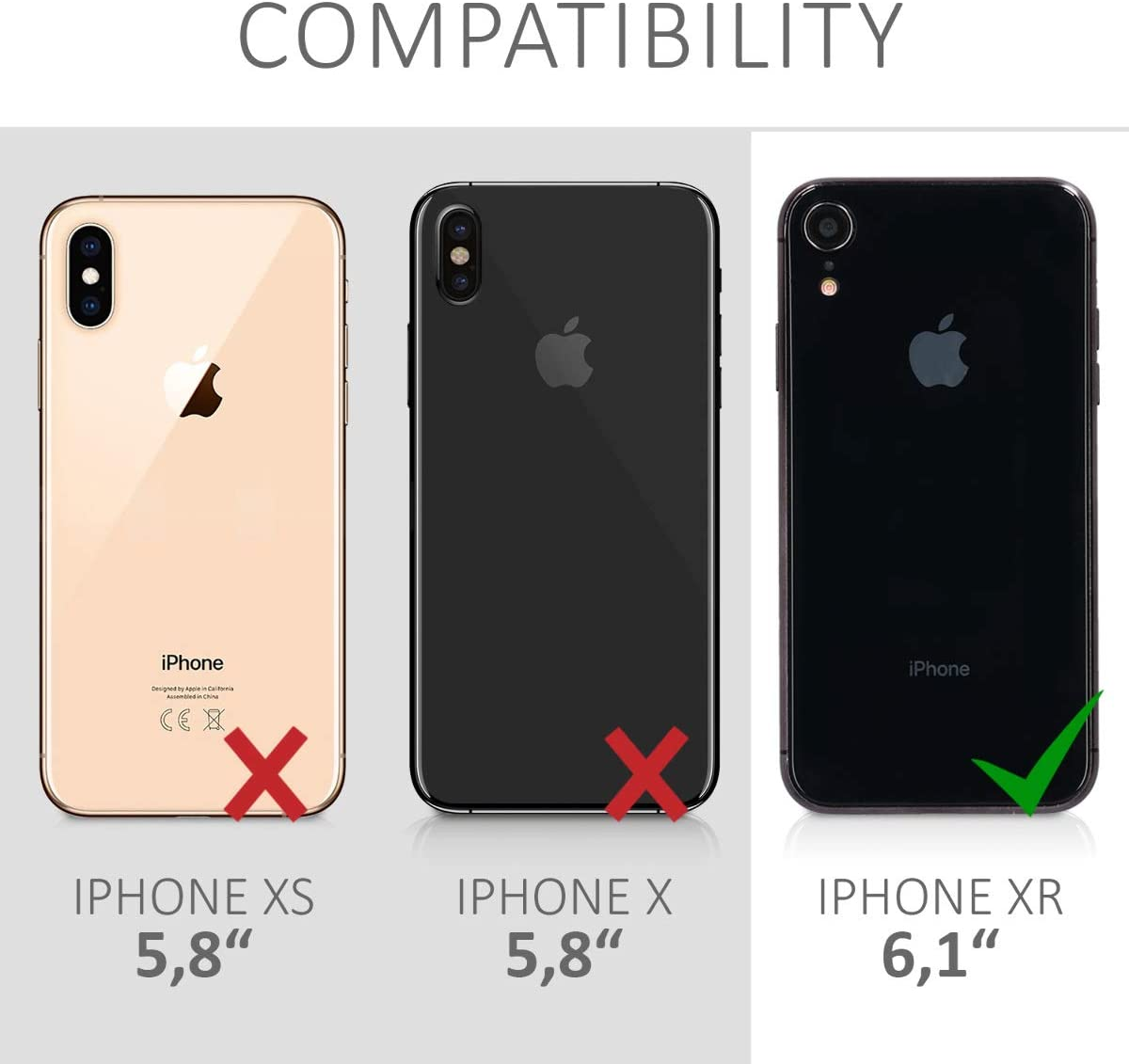 Cover Doble Transparente Carcasa Completa 360 para m/óvil kwmobile Funda Compatible con Apple iPhone XR