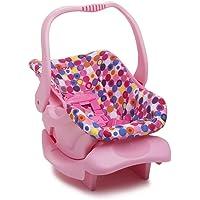 Doll Toy Car Seat - Pink Dot