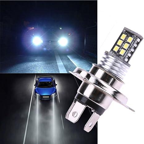 amazingdeal365 1 x Auto LED faro Delantero H4 bombilla LED 15 W 3535 no error LED