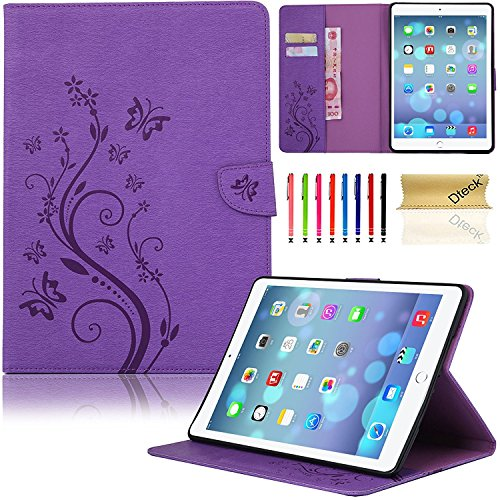 iPad Mini 4 Case, Dteck(TM) Slim Fit Flip PU Leather Cover Magnetic Closure Wallet Stand Cover with Card/Money Slots Protective Skin Tablet Cases for Apple iPad Mini 4 7.9 inch iOS Tablet (03 Purple) by Dteck