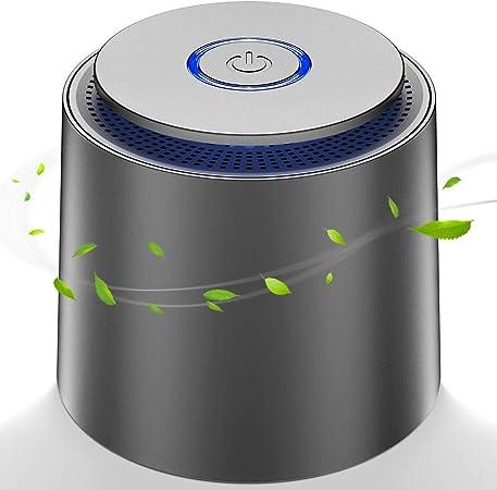 Mini Purificador de Aire, con Filtro HEPA Eficiente,Purificador de Aire USB Portátil con Luz Nocturna y Función de Aromaterapia para Hogar,Oficina Eliminar Polvo, Polen, Humo, olor,PM2.5: Amazon.es: Hogar