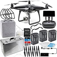 DJI Phantom 4 PRO+ PLUS Obsidian Edition Drone Quadcopter Includes Display (Black) Ultimate Aluminum Carrying Case Bundle