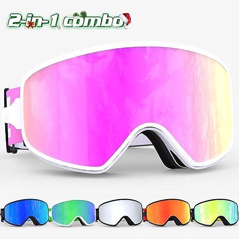 fefffb7a5ff Amazon.com   COPOZZ Ski Goggles