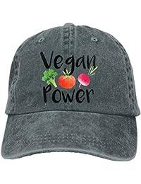 Vegan Power Adjustable Cross-Country Cotton Washed Denim Hat Asphalt
