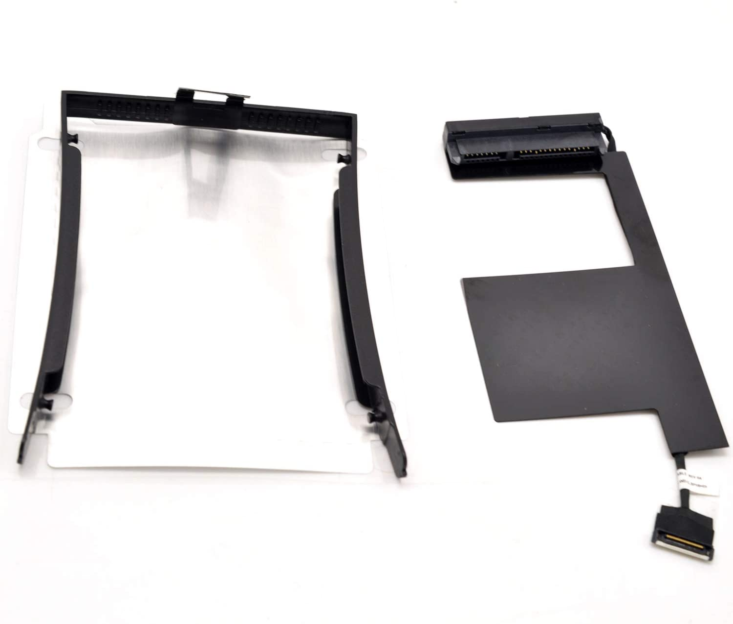 Deal4GO Left SSD Hard Disk Drive Cable Connector with 2.5 HDD Caddy Tray Bracket Sticker Set for Lenovo Thinkpad P50 P51 00UR835 DC02C007B00