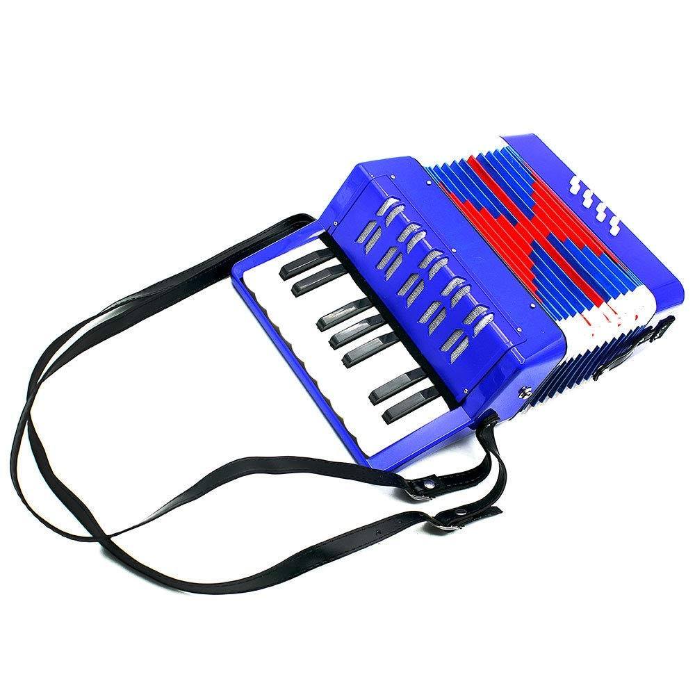 Accordion Lightweight Small Size Children's Toy Accordion Kids Piano Accordion 17 Keys 8 Bass with Straps Music Instruments for Beginners Students Educational Instrument Band Toy Children's Gift by Ybriefbag-Musical Instruments (Image #4)
