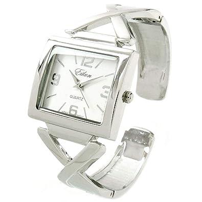 7a2dc967c302 STC Reloj de Pulsera para Mujer con Esfera Grande y Cuadrada