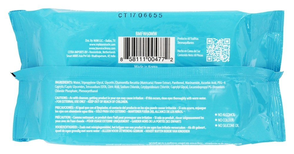 Amazon.com : BioMiracle - Micellar Makeup Cleansing Towelettes - 60 Towelette(s) : Beauty