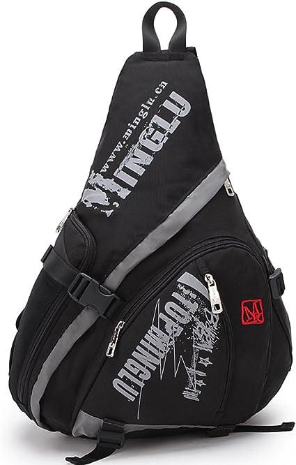 Mens Backpack Chest Shoulder Bag Outdoor Sport Camp Hiking Sling Gym Small  Book