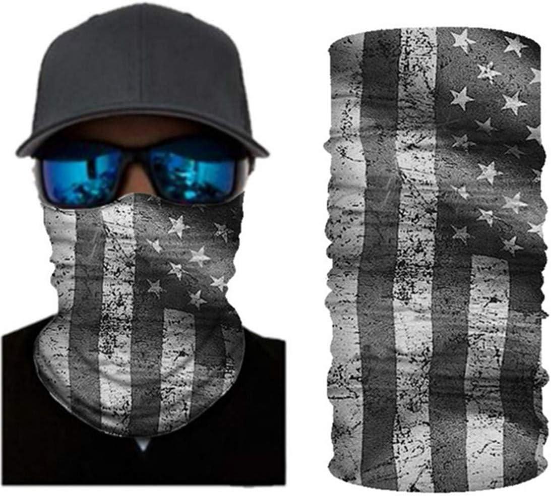 VCOROS USA Flag Style Bandana Face Mask Seamless Balaclava Tube Face Shield For Men Women WFTJ-120 USA Flag