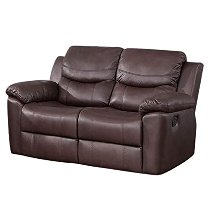 Amazon.com: Loveseat Recliner Sofa Recliner Chair PU Leather ...