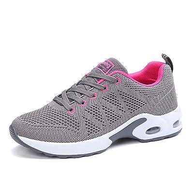 gran selección de b4e05 f0480 Air Zapatillas de Deportes Mujer Zapatos Deportivos Running Zapatillas para  Correr Ligero y con Estilo 34-43 EU
