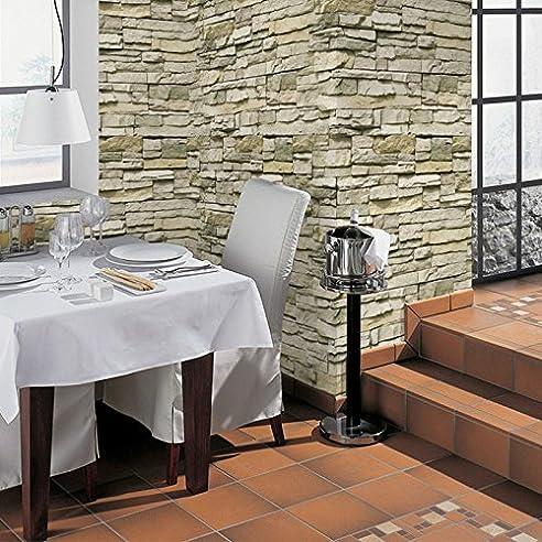 Tapete Retro Selbstklebende Backstein Muster Mosaik Fliesen Thema Tapete  Wohnzimmer Schlafzimmer Esszimmer Küche Antik