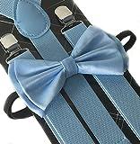4everStore Unisex's Bow tie & Suspender Sets (Baby Blue)