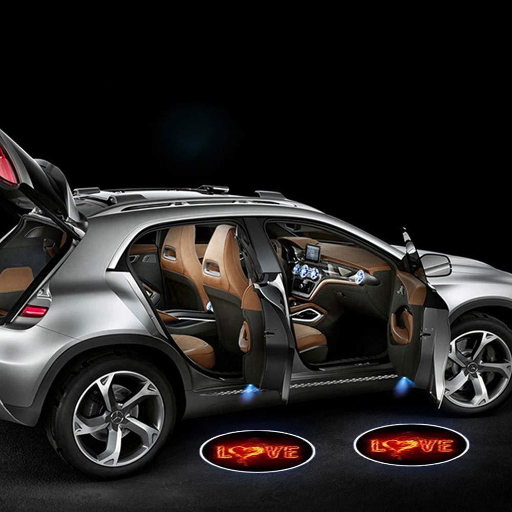 K 2pcs Universal Wireless Car Projection LED Door Shadow Light Laser Lamps Kit