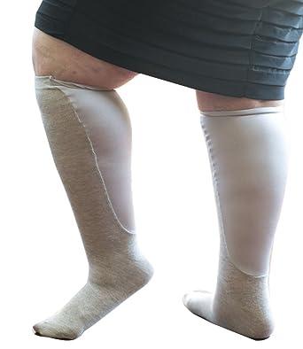 e5b3a59e2f Xpandasox Women's Plus Size/Wide Calf black cotton blend Knee High Socks at  Amazon Women's Clothing store: