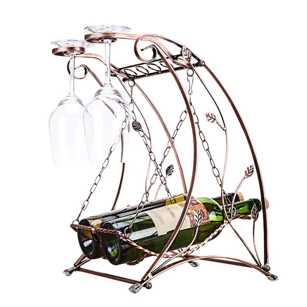BETTY Swing Wine Rack, 2 Bottles Red Wine Glass Holder Wine Rack Fashion Wine Rack Decoration Goblet Hanging Shelf