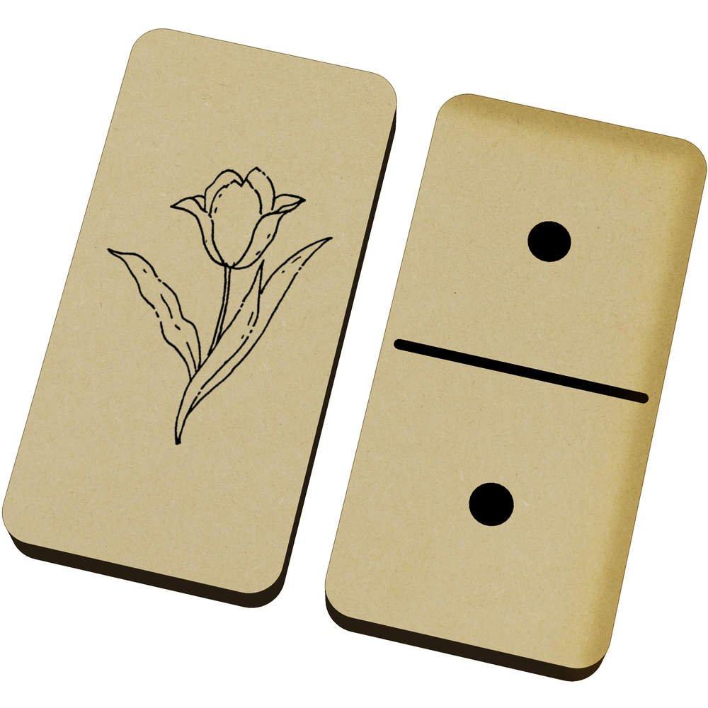 Azeeda 'Beautiful Flower' Domino Set & Box (DM00018117)