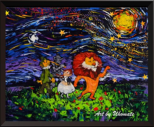 Of Wizard Oz Rating (Uhomate The Wizard Of Oz Vincent Van Gogh Starry Night Posters Home Canvas Wall Art Anniversary Gifts Baby Gift Nursery Decor Living Room Wall Decor A030)