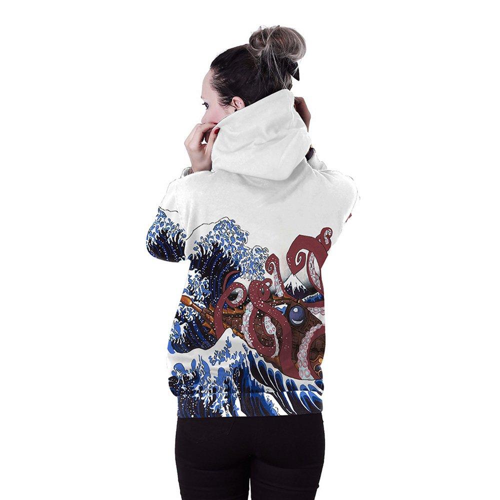 Mad Ink Unisex Couple wear Digital Hamburger 3D Printed Hooded Sweatshirt Casual Pullover Hoodies with Big Pockets M L XL 2XL