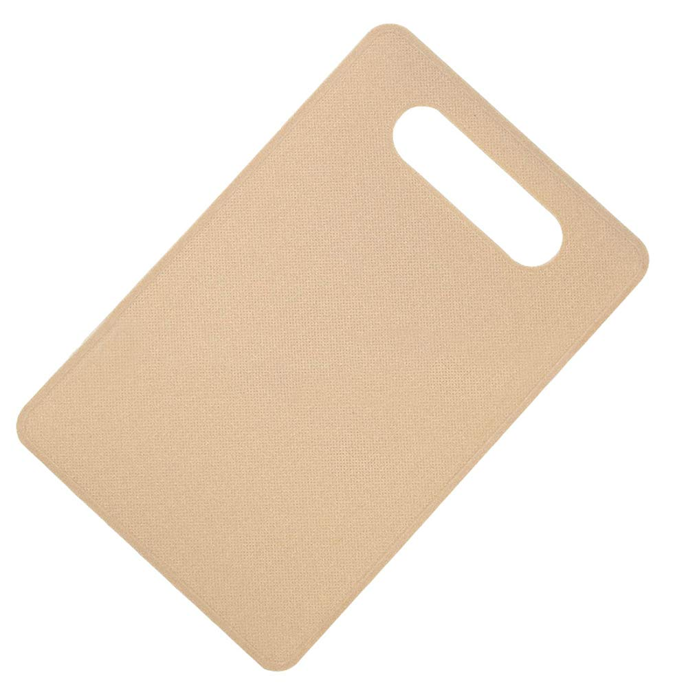 Yamalans Nonslip Plastic Chopping Board Food Cutting Block Mat Tool Kitchen Cook Utensils Apricot 29cm x 19cm x 0.23cm