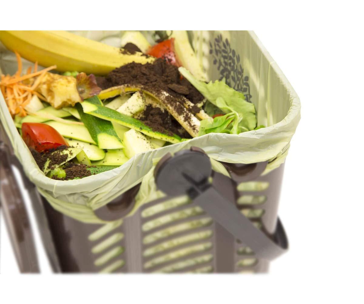Palucart Sacchi Raccolta Umido e Organico cm 50x60 30 Litri 200 Pezzi biodegradabili e compostabili