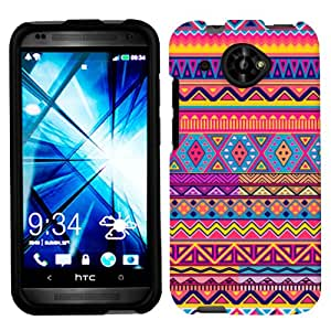 HTC Desire 601 Aztec Colourful Pattern Phone Case Cover