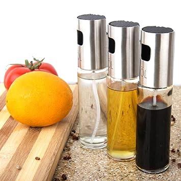 Style A Pulverizador de Aceite 3 pack - Botella de Dosificador de Aceite & Vinagre Spray