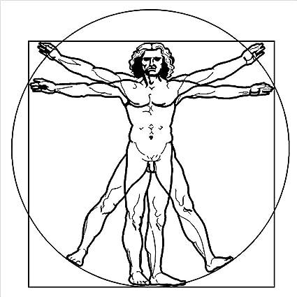 zhuziji Leonardo Da Vinci Vitruvian Man Vinyl Wall Art Sticker ...
